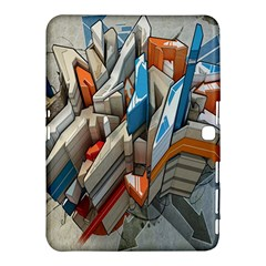 Abstraction Imagination City District Building Graffiti Samsung Galaxy Tab 4 (10 1 ) Hardshell Case  by Simbadda