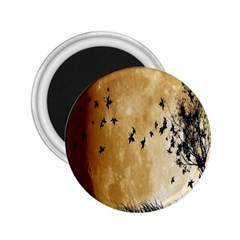 Birds Sky Planet Moon Shadow 2 25  Magnets by Simbadda