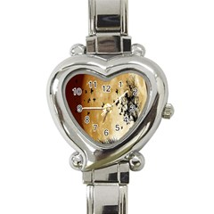 Birds Sky Planet Moon Shadow Heart Italian Charm Watch