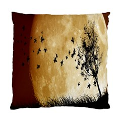 Birds Sky Planet Moon Shadow Standard Cushion Case (two Sides) by Simbadda