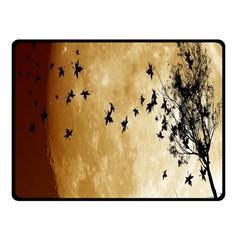 Birds Sky Planet Moon Shadow Fleece Blanket (small) by Simbadda