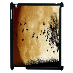 Birds Sky Planet Moon Shadow Apple Ipad 2 Case (black) by Simbadda