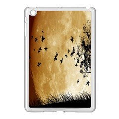 Birds Sky Planet Moon Shadow Apple Ipad Mini Case (white)