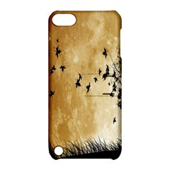 Birds Sky Planet Moon Shadow Apple Ipod Touch 5 Hardshell Case With Stand by Simbadda