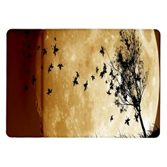 Birds Sky Planet Moon Shadow Samsung Galaxy Tab 10 1  P7500 Flip Case by Simbadda