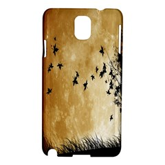 Birds Sky Planet Moon Shadow Samsung Galaxy Note 3 N9005 Hardshell Case by Simbadda