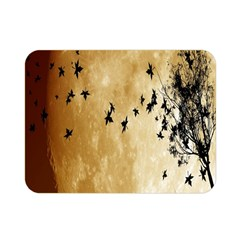 Birds Sky Planet Moon Shadow Double Sided Flano Blanket (mini)  by Simbadda