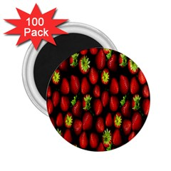 Berry Strawberry Many 2 25  Magnets (100 Pack)  by Simbadda