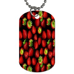 Berry Strawberry Many Dog Tag (one Side) by Simbadda
