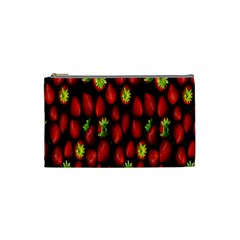 Berry Strawberry Many Cosmetic Bag (small)  by Simbadda