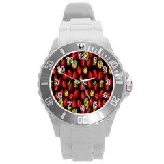 Berry Strawberry Many Round Plastic Sport Watch (l) by Simbadda