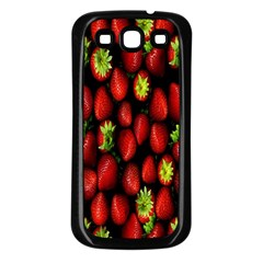 Berry Strawberry Many Samsung Galaxy S3 Back Case (black)