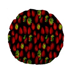 Berry Strawberry Many Standard 15  Premium Flano Round Cushions by Simbadda