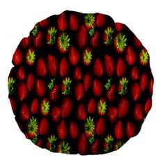 Berry Strawberry Many Large 18  Premium Flano Round Cushions by Simbadda