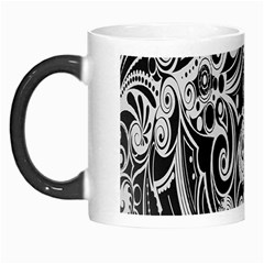 Black White Pattern Shape Patterns Morph Mugs by Simbadda
