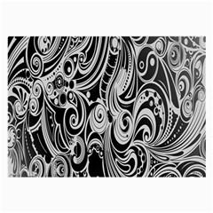 Black White Pattern Shape Patterns Large Glasses Cloth by Simbadda