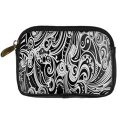 Black White Pattern Shape Patterns Digital Camera Cases by Simbadda