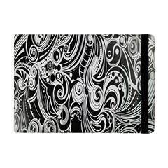 Black White Pattern Shape Patterns Apple Ipad Mini Flip Case by Simbadda