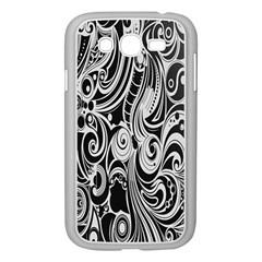 Black White Pattern Shape Patterns Samsung Galaxy Grand Duos I9082 Case (white) by Simbadda