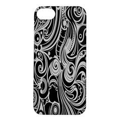 Black White Pattern Shape Patterns Apple Iphone 5s/ Se Hardshell Case by Simbadda