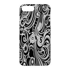 Black White Pattern Shape Patterns Apple Iphone 7 Plus Hardshell Case by Simbadda