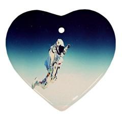Astronaut Ornament (heart) by Simbadda