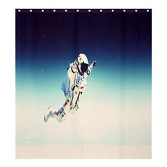 Astronaut Shower Curtain 66  X 72  (large)  by Simbadda