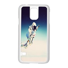 Astronaut Samsung Galaxy S5 Case (white) by Simbadda