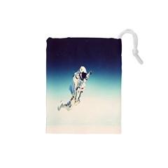 Astronaut Drawstring Pouches (small)  by Simbadda