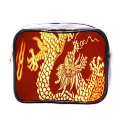 Fabric Pattern Dragon Embroidery Texture Mini Toiletries Bags