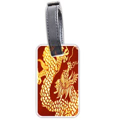 Fabric Pattern Dragon Embroidery Texture Luggage Tags (two Sides) by Simbadda