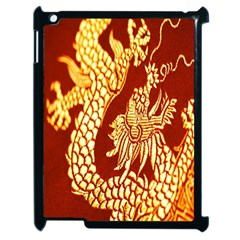 Fabric Pattern Dragon Embroidery Texture Apple Ipad 2 Case (black) by Simbadda