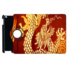 Fabric Pattern Dragon Embroidery Texture Apple Ipad 3/4 Flip 360 Case by Simbadda