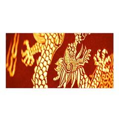 Fabric Pattern Dragon Embroidery Texture Satin Shawl by Simbadda