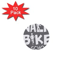 Bicycle Walk Bike School Sign Grey 1  Mini Buttons (10 Pack)  by Alisyart