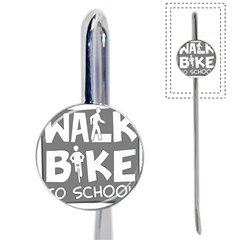Bicycle Walk Bike School Sign Grey Book Mark by Alisyart