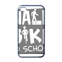 Bicycle Walk Bike School Sign Grey Apple Iphone 4 Case (black) by Alisyart
