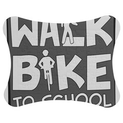 Bicycle Walk Bike School Sign Grey Jigsaw Puzzle Photo Stand (bow) by Alisyart