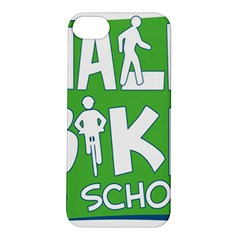 Bicycle Walk Bike School Sign Green Blue Apple Iphone 5s/ Se Hardshell Case by Alisyart