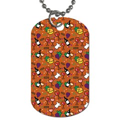 Wine Cheede Fruit Purple Yellow Orange Dog Tag (two Sides) by Alisyart
