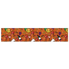Wine Cheede Fruit Purple Yellow Orange Flano Scarf (small) by Alisyart