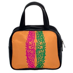 Brian Pink Green Orange Smart Classic Handbags (2 Sides) by Alisyart