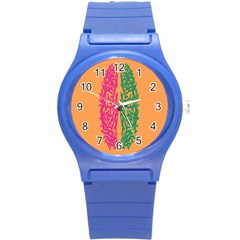 Brian Pink Green Orange Smart Round Plastic Sport Watch (s) by Alisyart