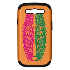 Brian Pink Green Orange Smart Samsung Galaxy S Iii Hardshell Case (pc+silicone) by Alisyart