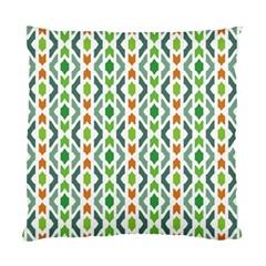Chevron Wave Green Orange Standard Cushion Case (two Sides) by Alisyart