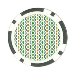 Chevron Wave Green Orange Poker Chip Card Guard (10 Pack) by Alisyart