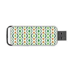 Chevron Wave Green Orange Portable Usb Flash (one Side) by Alisyart