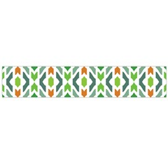 Chevron Wave Green Orange Flano Scarf (large) by Alisyart