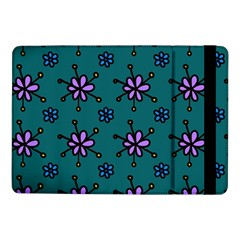 Blue Purple Floral Flower Sunflower Frame Samsung Galaxy Tab Pro 10 1  Flip Case by Alisyart