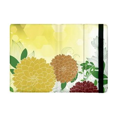 Abstract Flowers Sunflower Gold Red Brown Green Floral Leaf Frame Apple Ipad Mini Flip Case by Alisyart